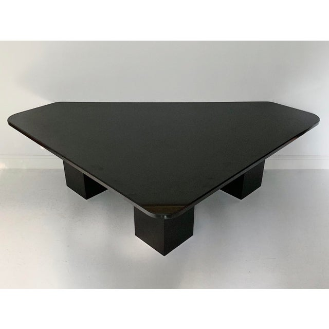 Contemporary Vintage Modern Sculptural Black Marble Coffee Table For Sale - Image 3 of 6
