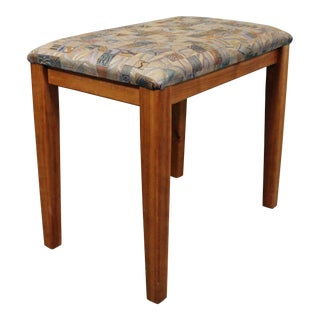 Mid-Century Danish Modern Teak Vanity Stool by Pbj Mobler For Sale