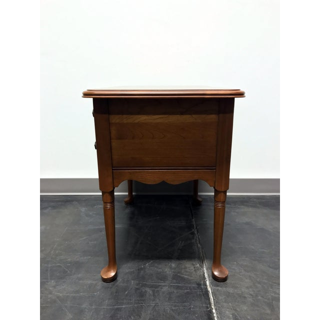Pennsylvania House Pennsylvania House Cherry Queen Anne Diminutive Lowboy Chest Nightstand For Sale - Image 4 of 11