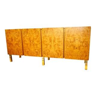 1970's Roland Carter for Lane Furniture Burl Credenza For Sale