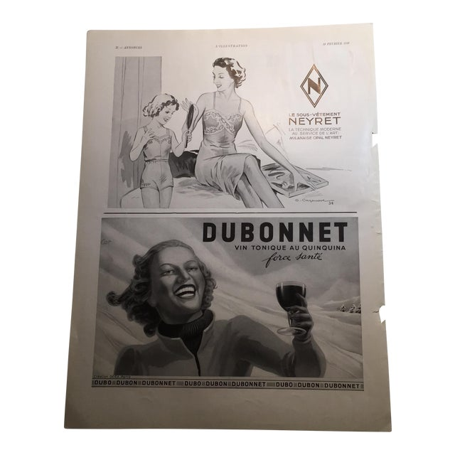 1938 French Dubonnet Ad - Image 1 of 8