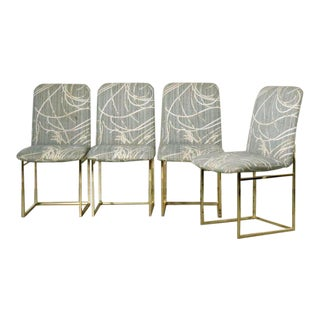 1970's Milo Baughman for Dia Brass Dining Chairs - Set of 4 For Sale