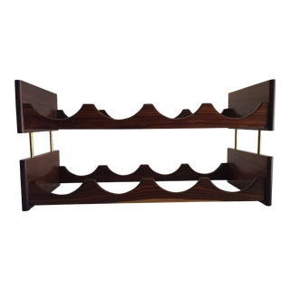 Vintage Rosewood Wine Rack Danish Modern 8 Bottle