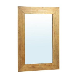Rustic Large Wood Mirror For Sale