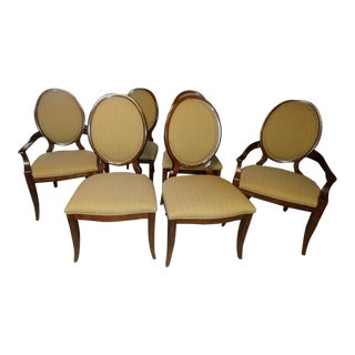 Thomasville Furniture Spellbound Sable Mahogany Oval Back Dining Chairs- Set of 6 For Sale