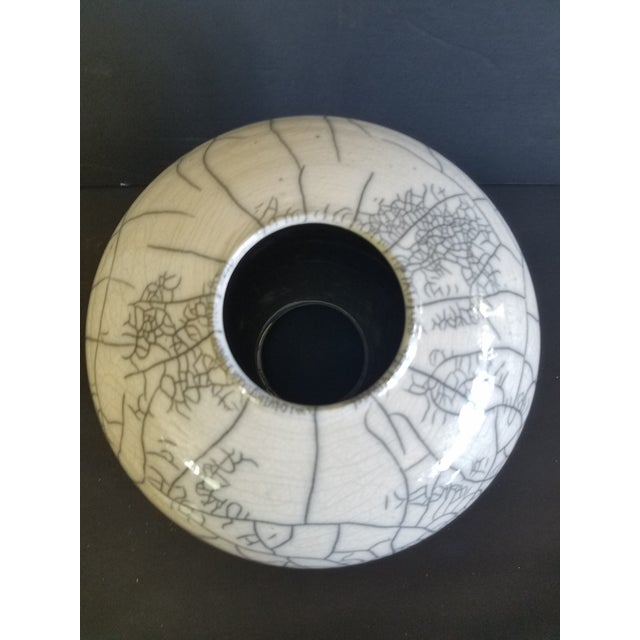 1980s Les Mitchell Raku Vase For Sale - Image 5 of 7