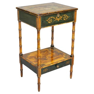 Regency Stencilled and Painted Side Table For Sale