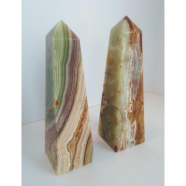 Modern Onyx Obelisks - A Pair - Image 4 of 10