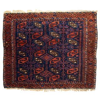 "1880s Antique Collectible Afghan Baluch Bag Face - 1'7"" X 1'11"""