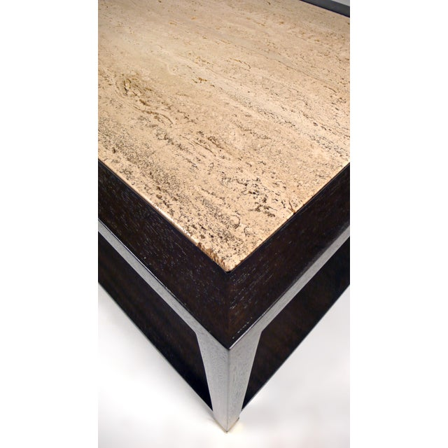 Harvey Probber Travertine Console Table For Sale - Image 9 of 10
