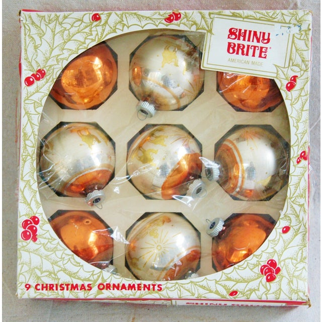 1950s Christmas Ornaments With Box - Set of 9 - Image 4 of 8