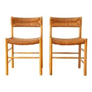 """1950s Vintage Charlotte Perriand """"Dordogne"""" Chairs - a Pair"""
