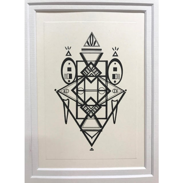 Contemporary Natasha Mistry Original Ink Drawing For Sale - Image 3 of 12
