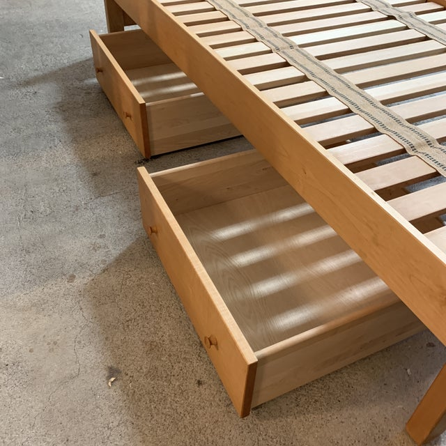 """2010s Twin Size Pacific Rim """"The Classic"""" Solid Maple + Integrated Storage For Sale - Image 5 of 12"""