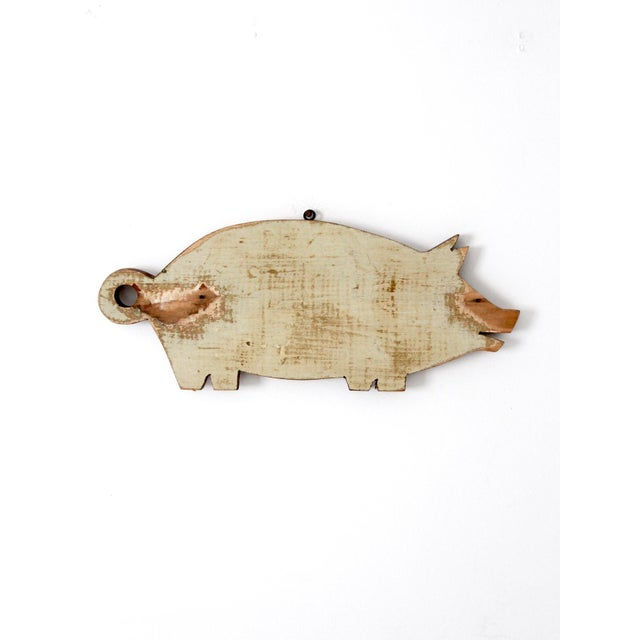 Wood Vintage Wooden Pig Cutting Board For Sale - Image 7 of 7