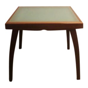 Calligaris Extendable Glass Wood Dining Table For Sale