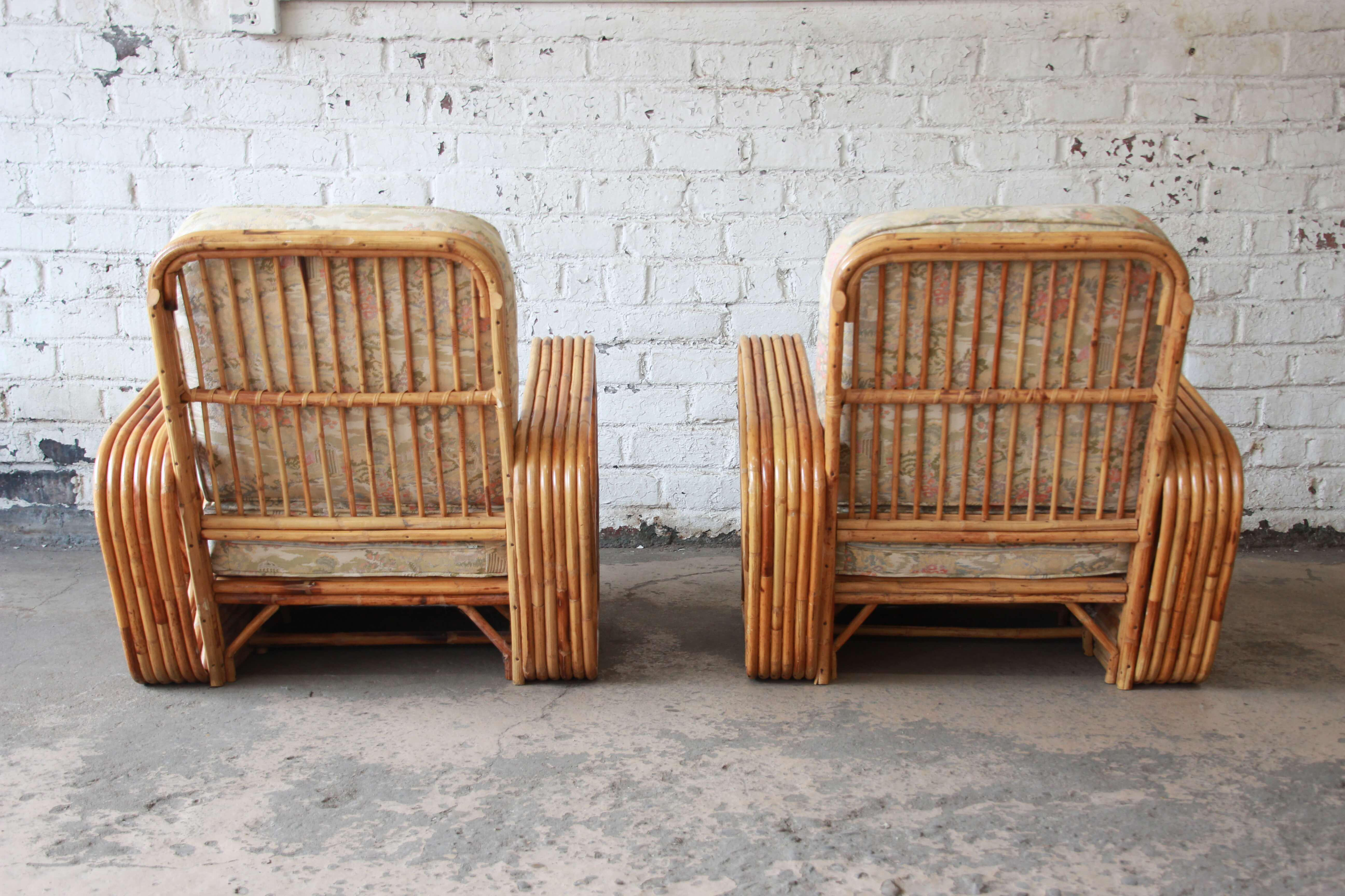Bamboo Pretzel Chairs Attributed To Paul Frankl   A Pair   Image 9 Of 11