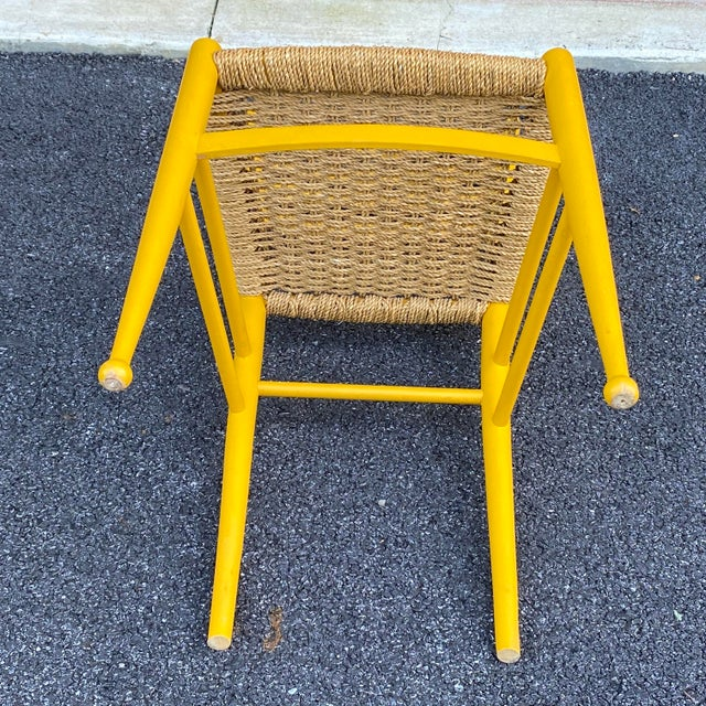 Woven Rope Gio Ponti Style Side Chair For Sale - Image 10 of 12