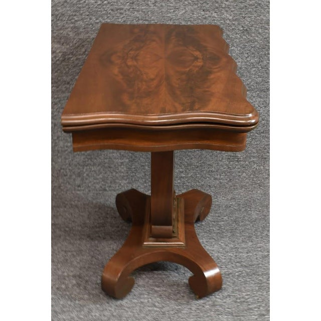 1930s 19th Century American Empire Game Table Console Table For Sale - Image 5 of 12