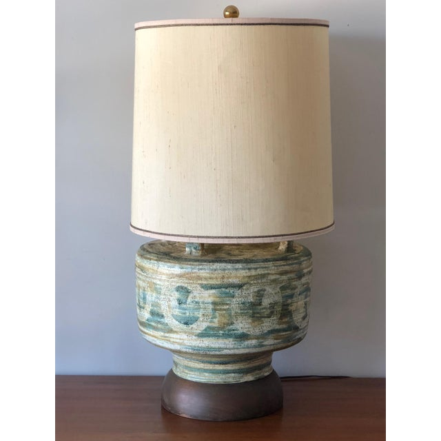 1950s Large Raymor Ceramic Lamp For Sale - Image 9 of 9