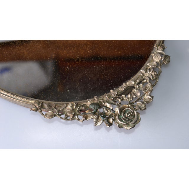 Art Deco Pewter Mirrored Tray - Image 6 of 9