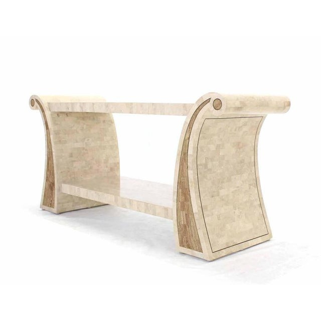 Early 20th Century Maitland Smith Tessellated Stone Veneer Console Table For Sale - Image 5 of 7