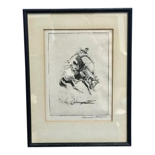 "Early 20th Century Antique Edward Borein ""Setting Pretty"" Print For Sale"