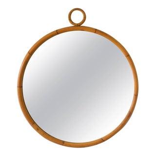 Mid-Century Bamboo Wall Mirror