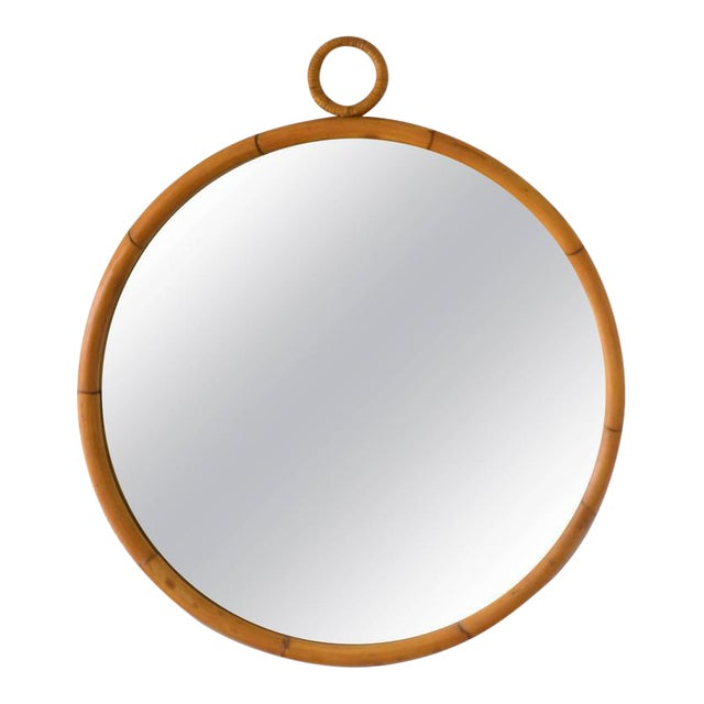 Mid-Century Bamboo Wall Mirror - Image 1 of 5