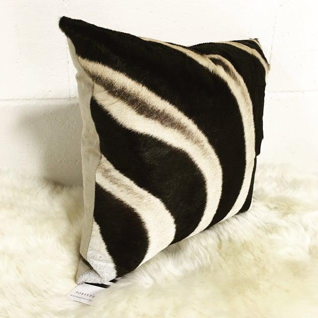 Zebra Hide Pillow - Image 3 of 3