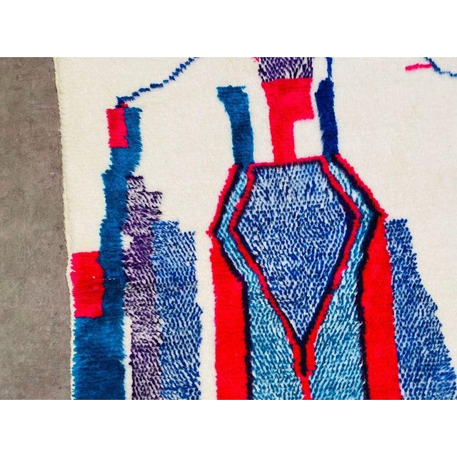 1980s Berber Morocco Rug-4′8″ × 8′2″ For Sale - Image 6 of 10