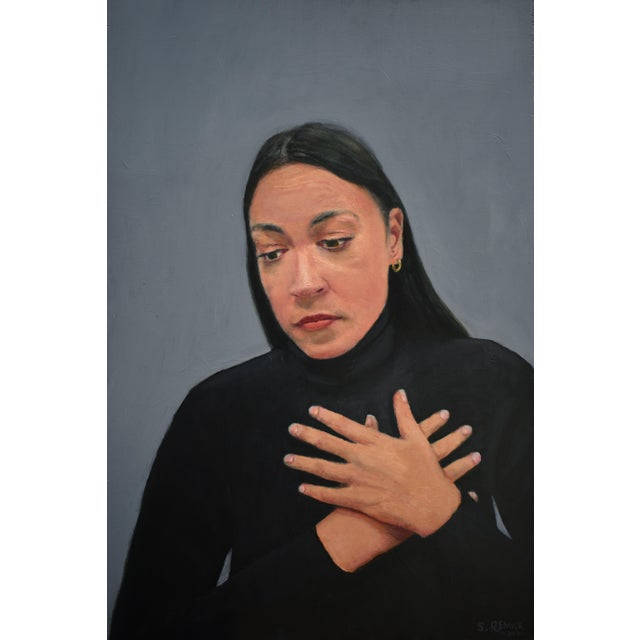 """2020s """"Empathy"""" Contemporary Portrait Painting by Stephen Remick, Framed For Sale - Image 5 of 9"""