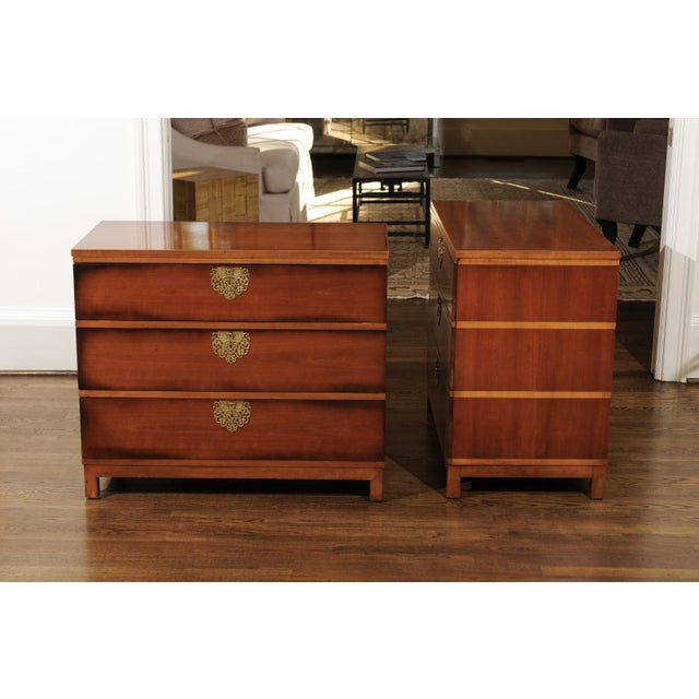 Drexel Chic Restored Pair of Michael Taylor Style Chests, Circa 1957 For Sale - Image 4 of 13