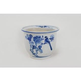 1970s Asian Blue & White Porcelain Flower Pot Preview
