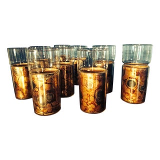 High Ball Glasses With Cork Sleeves - Set of 9 For Sale