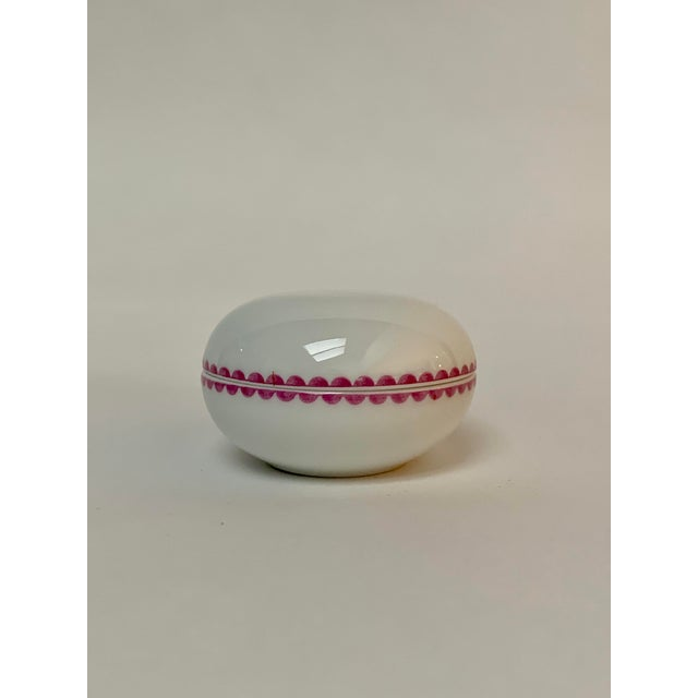 Richard Ginori Richard Ginori Italian Porcelain Trinket Box For Sale - Image 4 of 6