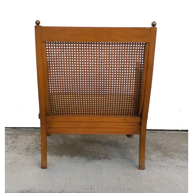 Vintage Mid Century Cane Back Lounge Chair - Image 6 of 8