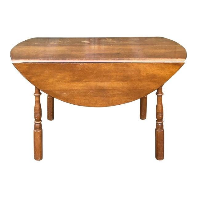 Vintage Sibley Lindsay & Curr Co. Drop Leaf Kitchen Table For Sale