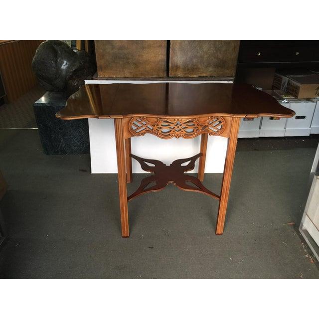 Baker Furniture Company Baker Furniture Drop Leaf Table Pembroke Table Historic Charleston For Sale - Image 4 of 9