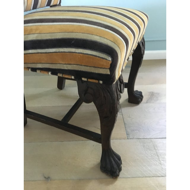Antique French Stripe Side Chairs - Set of 6 - Image 8 of 8