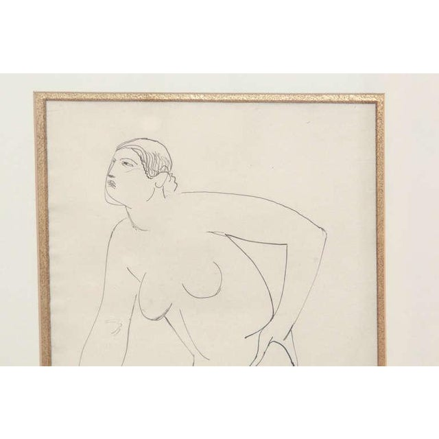White Three Lovely Watercolors by Maurice Sterne For Sale - Image 8 of 10
