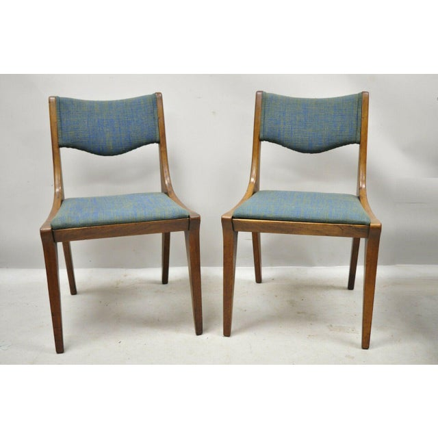 Drexel Dateline John Van Koert Walnut Mid Century Modern Dining Chairs - a Pair. Item features solid wood construction,...