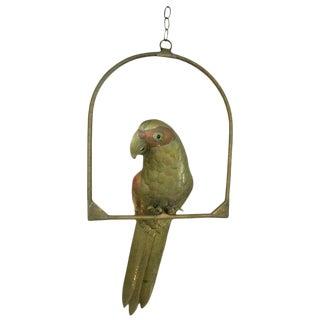 1950s Figurative Sergio Bustamante Brass & Copper Parrot For Sale
