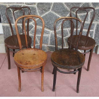1940s Antique Thonet Model 18 Cafe Chairs - Set of 4 Preview