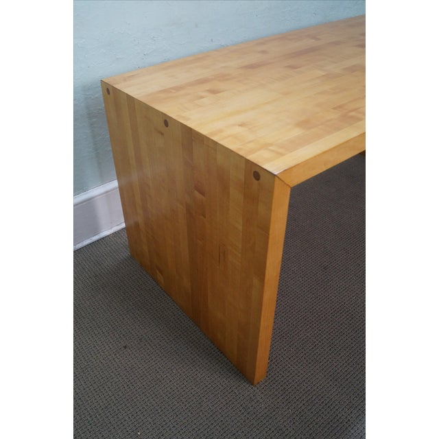 David Hicks Mid-Century Parsons Slab Desk For Sale - Image 4 of 10