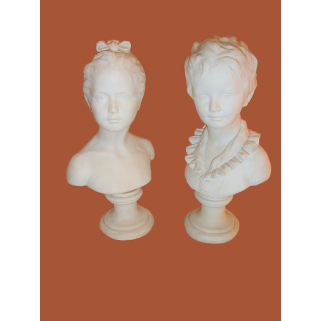 Brother and Sister Parian Busts- A Pair - Image 2 of 8