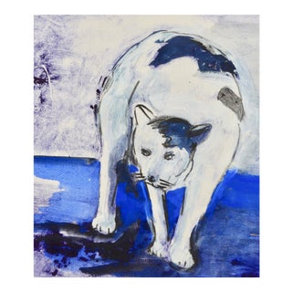 """""""Kitty"""" Contemporary Mixed-Media Drawing by Martha Holden For Sale"""