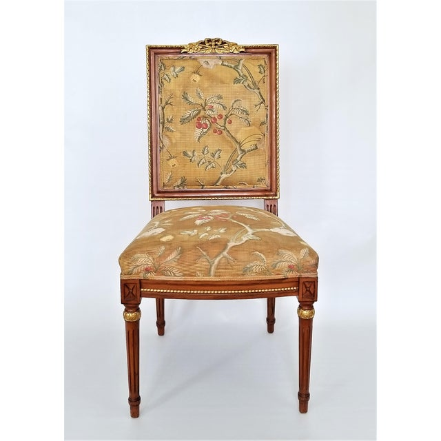 Federal 1960s Vintage Louis XVI French Directoire Style Chair For Sale - Image 3 of 13
