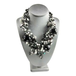 Artisan Gemstone Statement Necklace For Sale