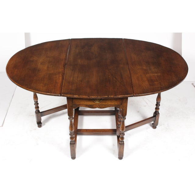 1920s English Jacobean Gateleg Table For Sale - Image 9 of 11